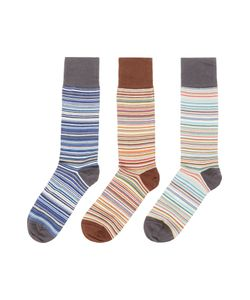 Paul Smith | Mens 3 Pack Multi Stripe Socks