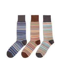 Paul Smith | Mens 3 Pack Of Multistripe Sock