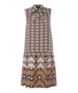 Max Mara | Olbia Sleeveless Geometric Print Silk Dress