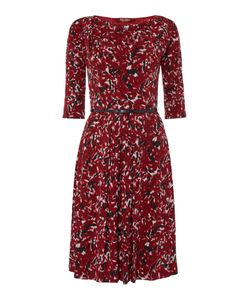 Max Mara | Ghiotto Jersey Print Belted Dress
