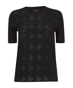 Paul Smith Black Label   Short Sleeve Tee With Jacquard Pattern