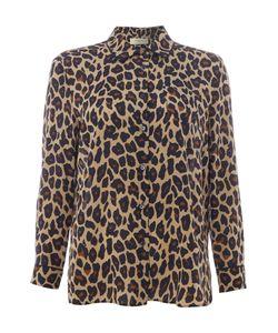 Max Mara | Marica Long Sleeve Leopard Print Silk Blouse