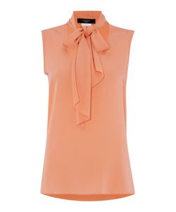 Max Mara | Liguria Sleeveless Silk Pussy Bow Blouse