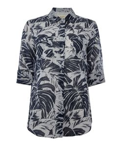 Max Mara | Spider Three Quarter Sleeve Leaf Print Shirt