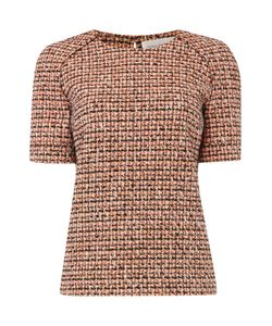 Victoria Beckham | Short Sleeve Neon Tweed Raglan Top