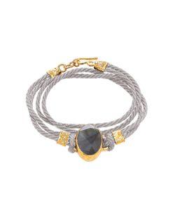 Ottoman Hands   Double Wrap Stone Cord Bracelet