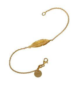 Azendi   Gold Vermeil Feather Bracelet