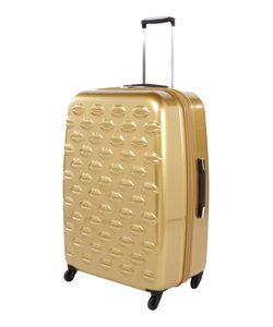 Lulu Guinness   Lulu Lips Gold 71cm 4 Wheel Case