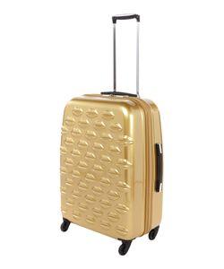 Lulu Guinness   Lulu Lips Gold 61cm 4 Wheel Case