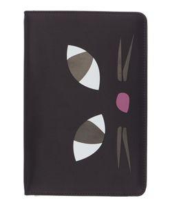 Lulu Guinness   Black Kooky Cat Ipad Mini Case