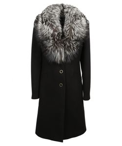 Blumarine | Fox Collar Coat