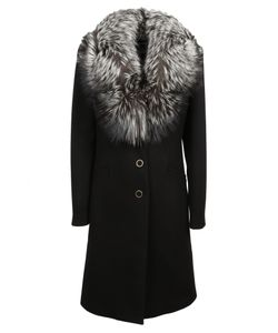 Blumarine   Fox Collar Coat