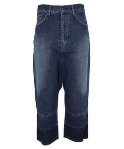 Y's   Distressed Hem Jeans