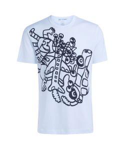 Comme Des Garçons | T-Shirt Shirt Bianca Stampa Noah Lyon