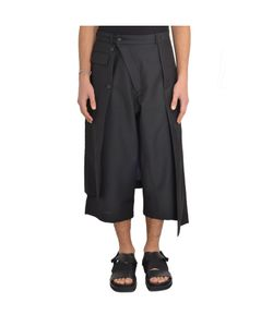 D.Gnak | 7543 Asymmetric Skirt Layered Shorts