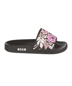 MSGM | Slipper Black Rubber