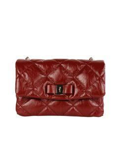 Salvatore Ferragamo | Shop Online Bordeaux Leather Shoulder Bag