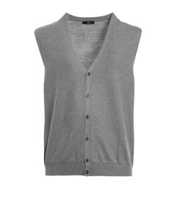 Fay | Virgin Wool Sleeveless Cardigan