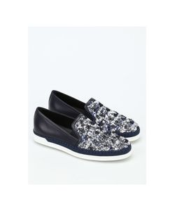 Tod's | Sequined Leather Espadrilles