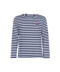 Comme Des Garçons Play   Longsleeved Striped T-Shirt