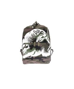 Valentino Garavani | Camouflage Cotton Canvas Backpack Panther Print