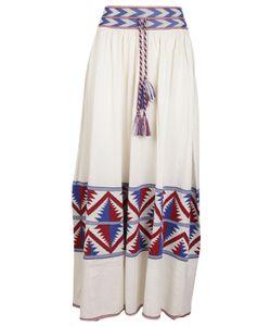 Laneus | Rope Tie Printed Skirt