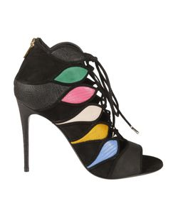 Salvatore Ferragamo | Patchwork Lace-Up Sandals