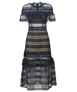 Self-Portrait | Yoke Frill Midi Lace Dress
