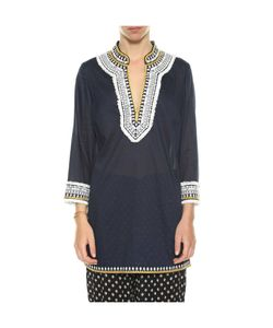 Tory Burch   Embroidered Fringed Tunic
