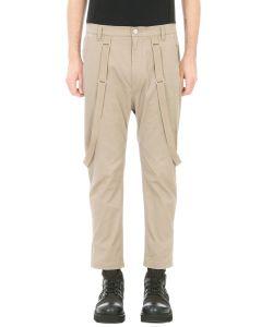Helmut Lang | Crop Suspender Pants