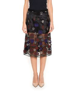Sacai   Skirt With Patches