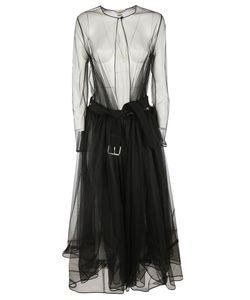 Givenchy | Sheer Tulle Belted Dress