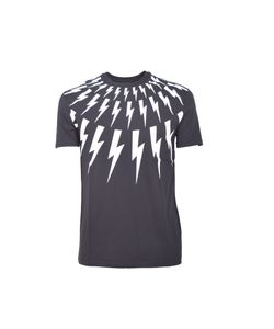 Neil Barrett | Lightning Bolt Print T-Shirt