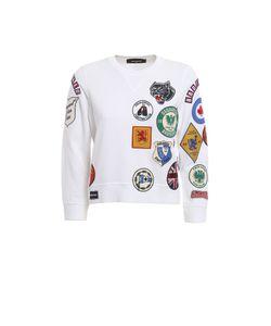 Dsquared2   Patch Cotton Crop Sweatshirt