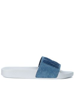 MSGM | Slippers In Denim Washed Effect