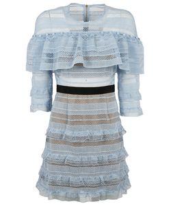 Self-Portrait | Stripe Grid Mini Dress