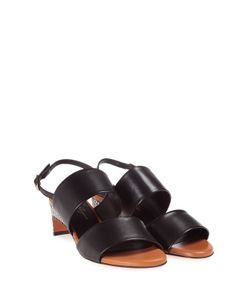 Robert Clergerie | Cimple Watersnake And Leather Sandal