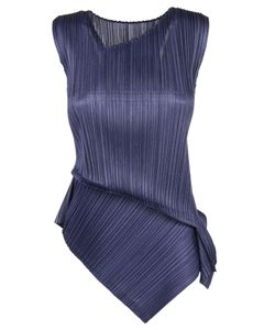 Pleats Please By Issey Miyake | Issey Miyake Folded Trim Pleated Blouse