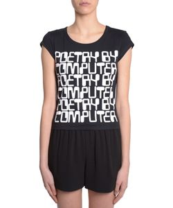 Jeremy Scott | T-Shirt Poetry By Computer Print