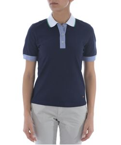 Fay   Contrast Detail Polo Shirt