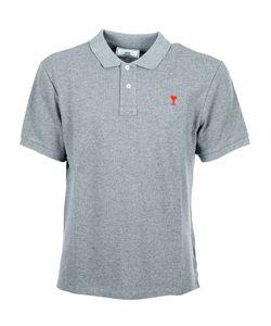 AMI Alexandre Mattiussi   Ami Embroide Heart Polo Shirt