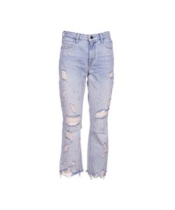 Alexander Wang | Distressed Cropped Jeans
