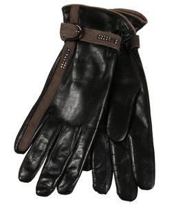 Restelli | Nappa Leather Gloves With Crystals