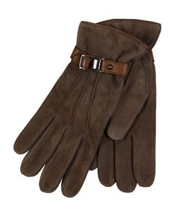 Restelli | Suede Gloves With Leather Deer
