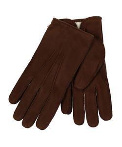 Restelli | Nubuck Hand-Stitched Gloves With Gap Under Button