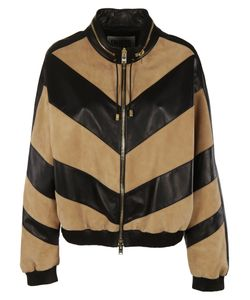 Fausto Puglisi   Striped Leather Jacket