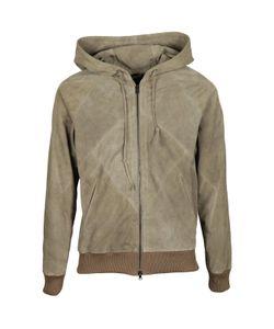 Dacute | Leather Hooded Jacket