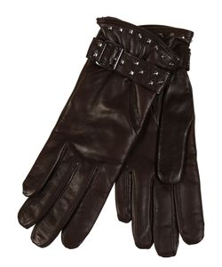 Restelli | Nappa Leather Gloves With Studs