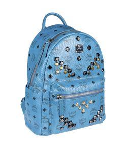 MCM | Logo Print Studded Backpack