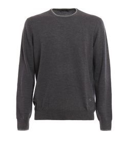 Fay | Patches Detail Wool Crewneck